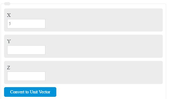 Unit Vector Calculator
