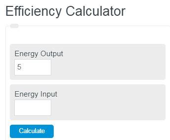 efficiency calculator