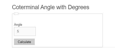 coterminal angle calculator