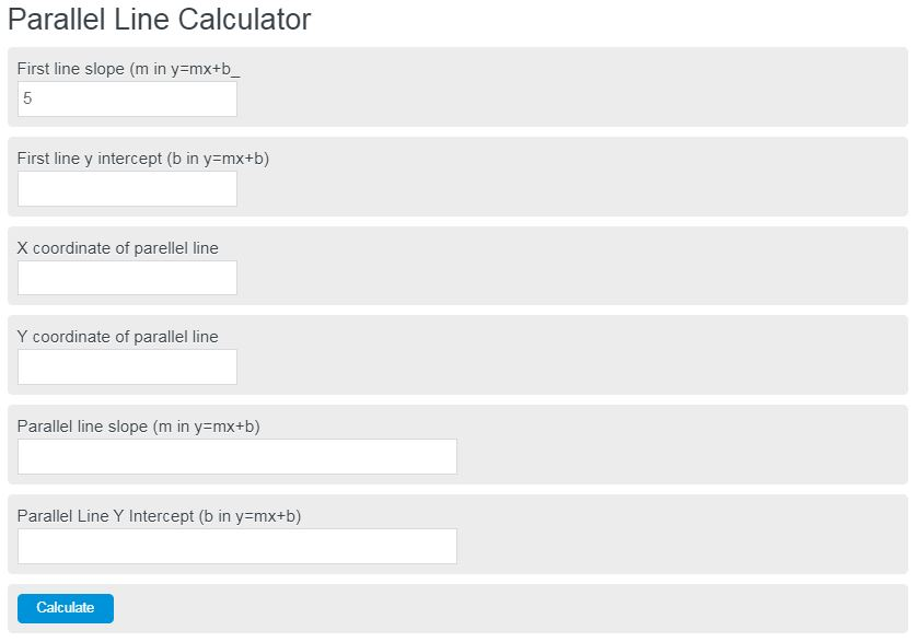 parallel line calculator