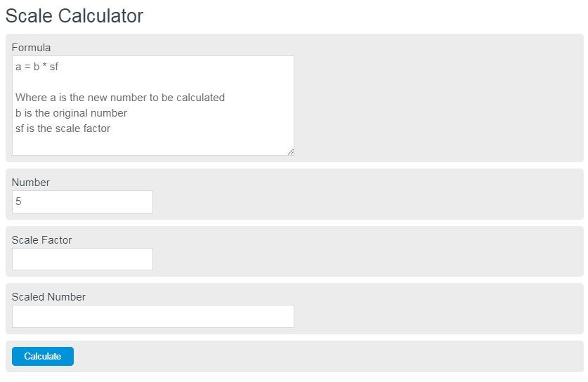 scale calculator