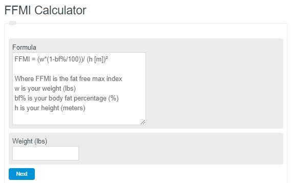 FFMI Calculator