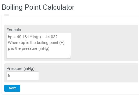 boiling point calculator