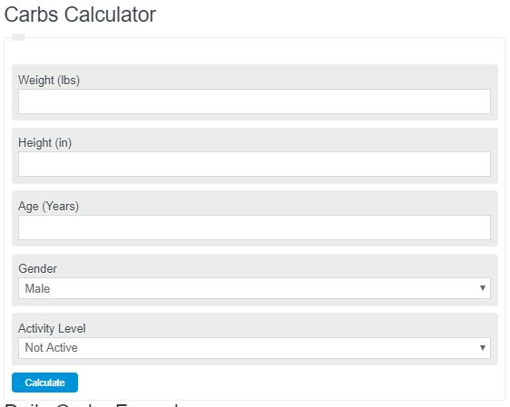 Carbs Calculator (Carbohydrates per Day)