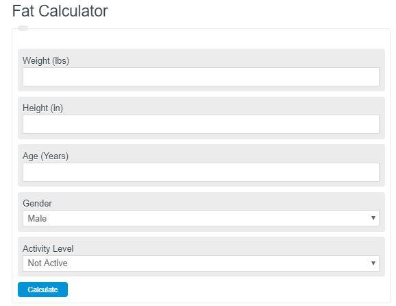 Fat Intake Calculator (Daily Fat in Grams)