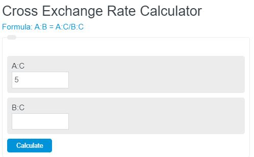 Cross Exchange Rate Calculator
