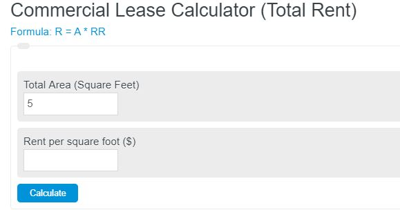 commercial lease calculator