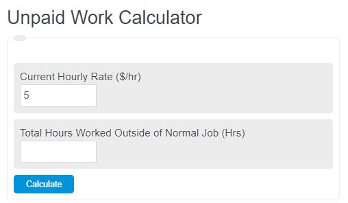 unpaid work calculator