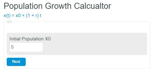 population growth calculator