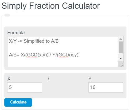 simplify fraction calculator