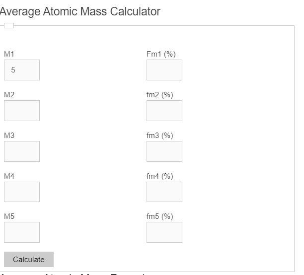 average atomic mass calculator