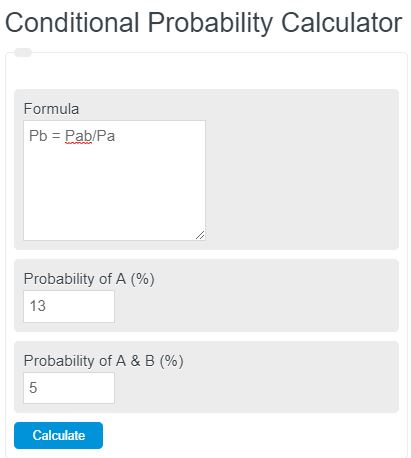 conditional probability calculator
