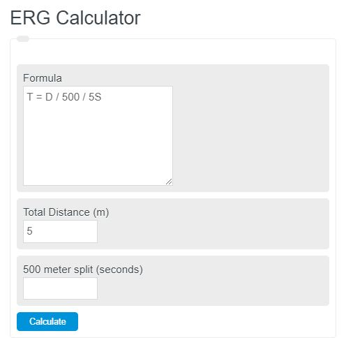 erg calculator
