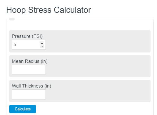 hoop stress calculator