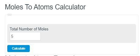 moles to atoms calculator
