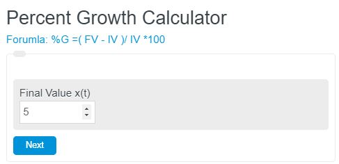 percent growth calculator