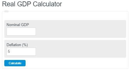 real gdp calculator