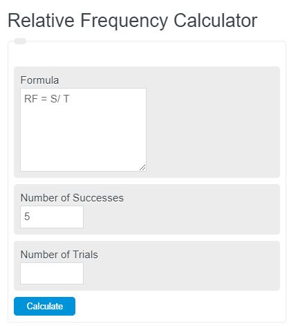 relative frequency calculator