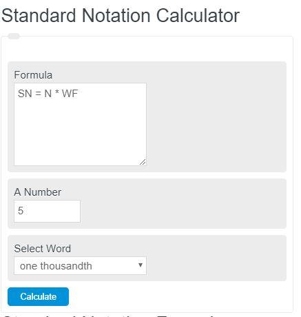 scientific notation calculator