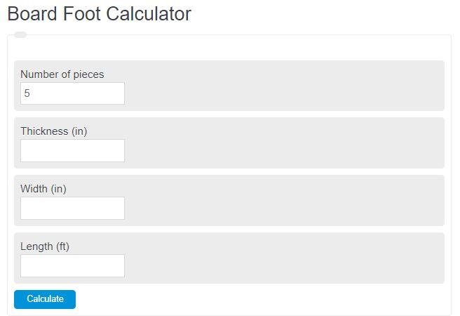 Board Foot Calculator Calculator Academy