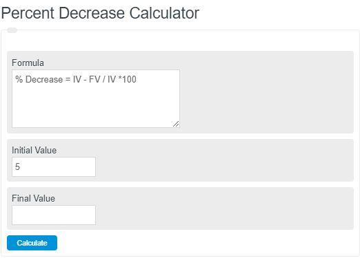 percent decrease calculator