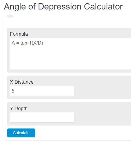 angle of depression calculator