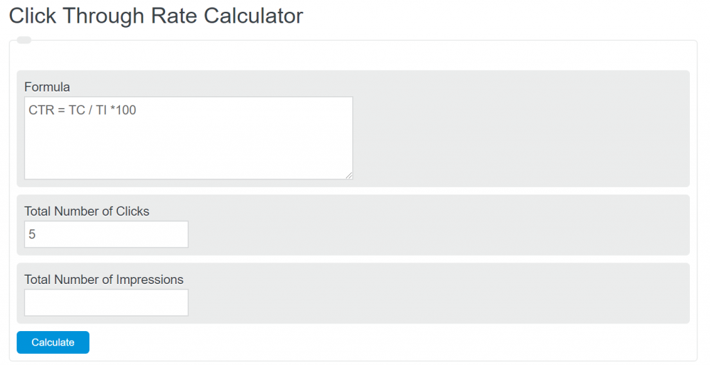 click through rate calculator