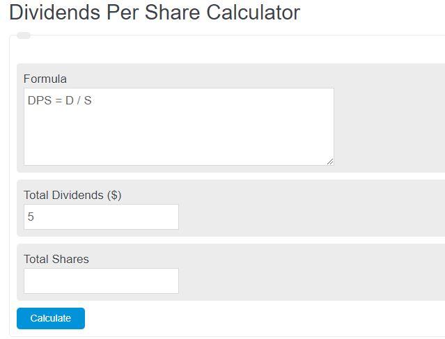 dividends per share calculator