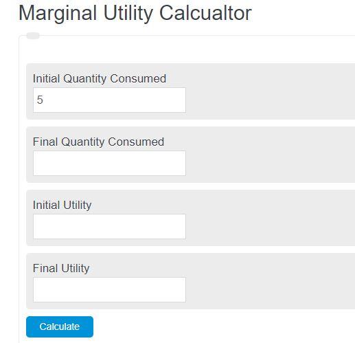 marginal utility calculator