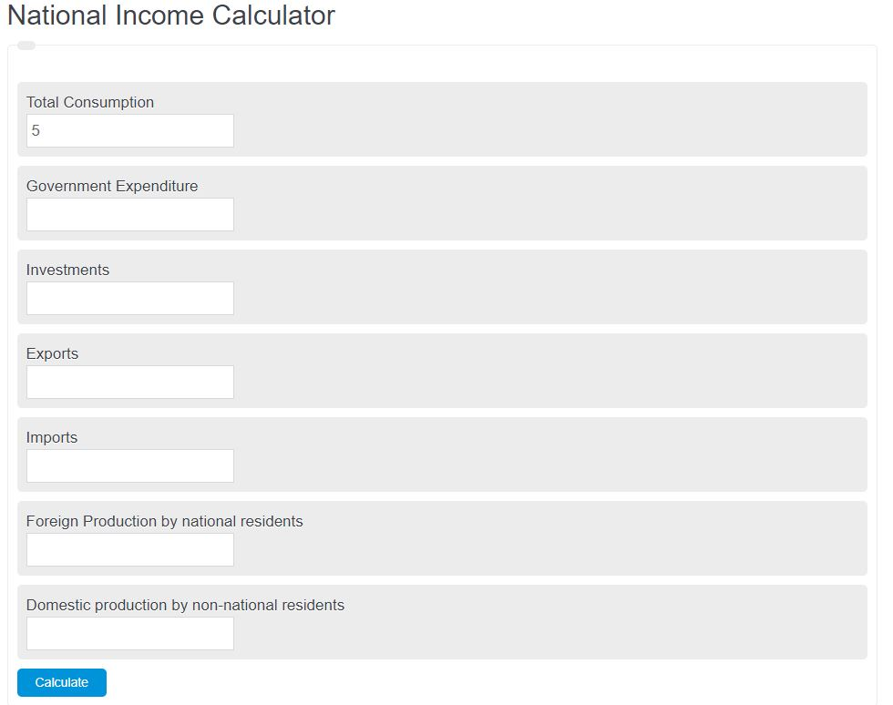 national income calculator