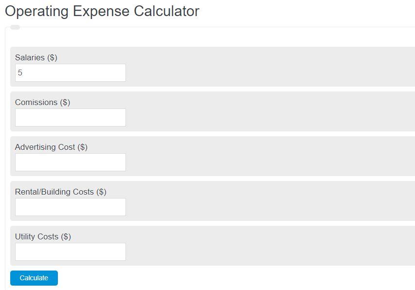 operating expense calculator