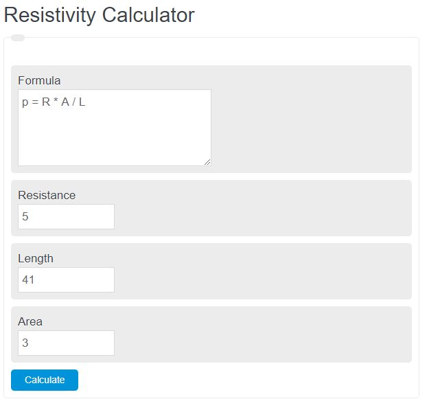resistivity calculator