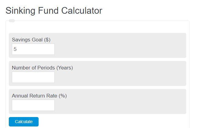 sinking fund calculator