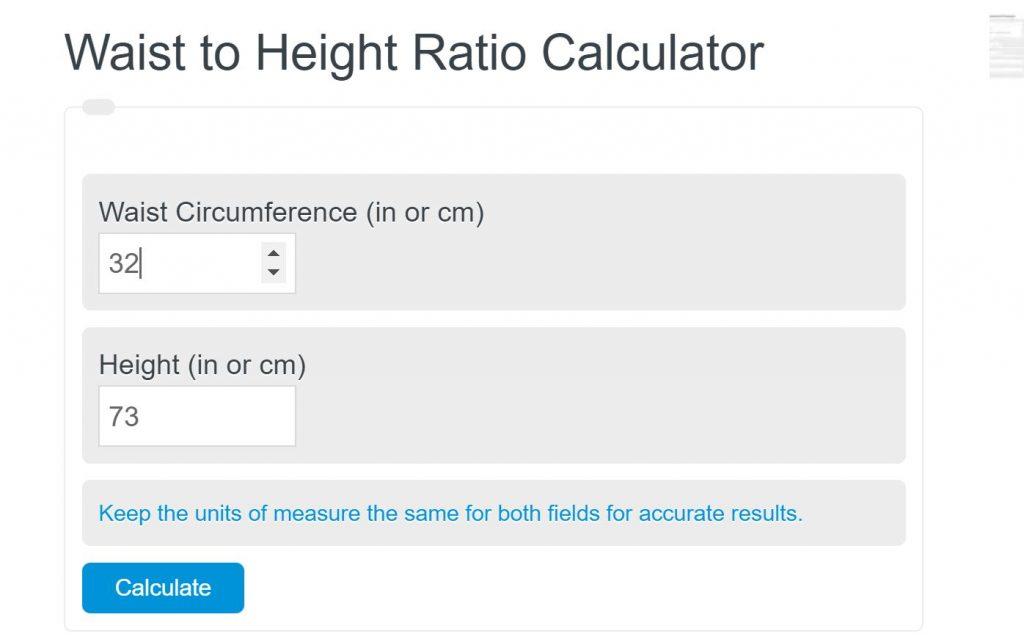 waist to height ratio calculator