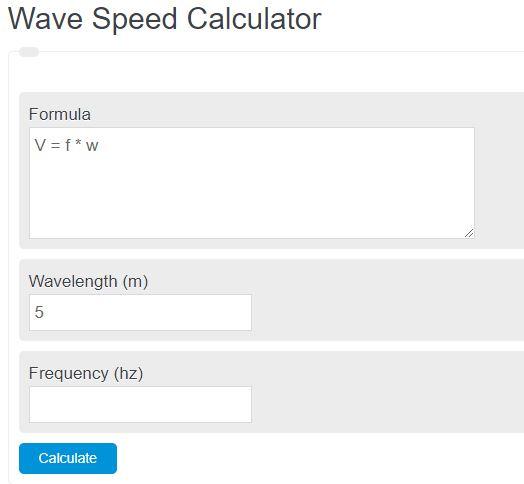 wave speed calculator