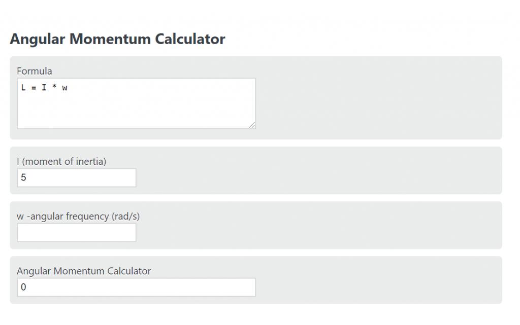 angular momentum calculator