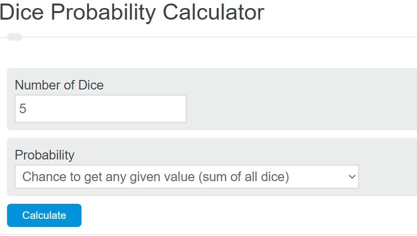 dice probability calculator