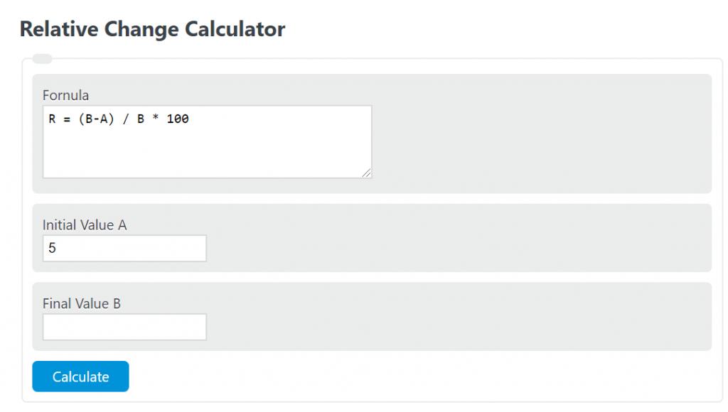 relative change calculator