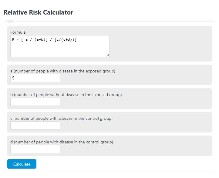 relative risk calculator