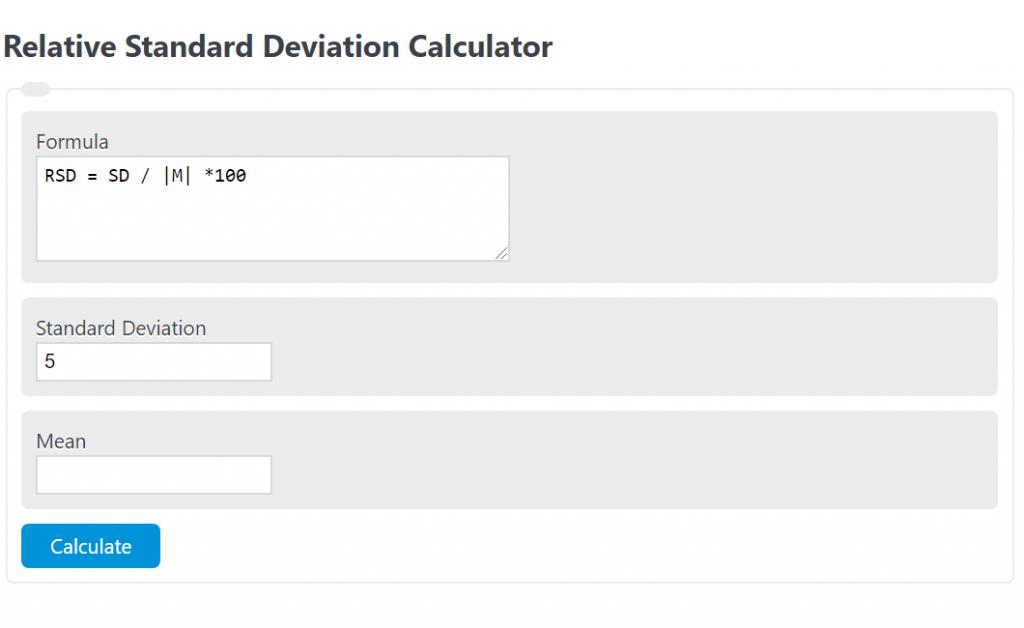 relative standard deviation calculator