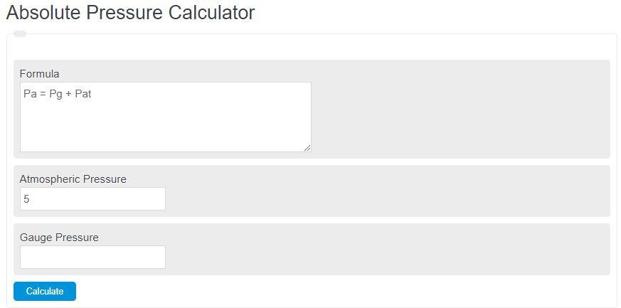 absolute pressure calculator