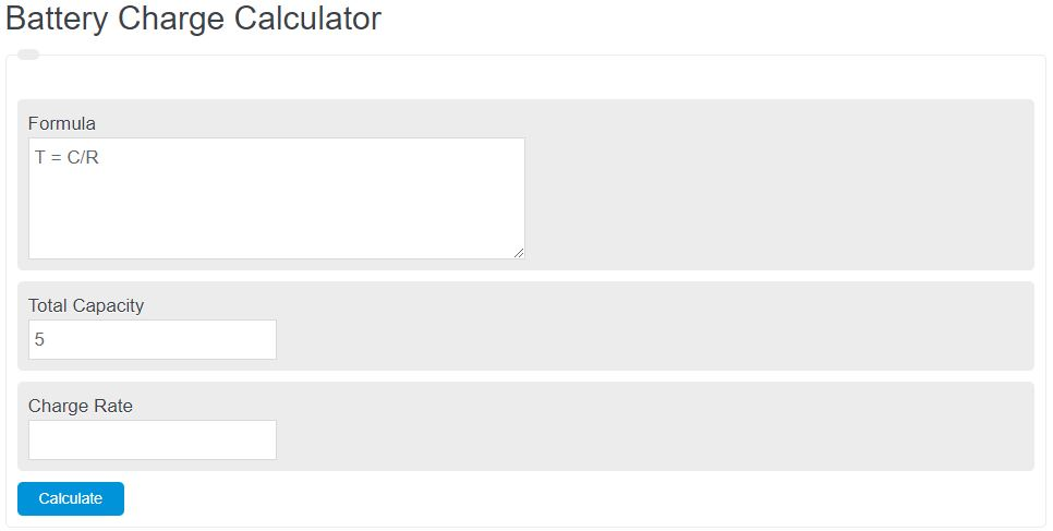 battery charge calculator