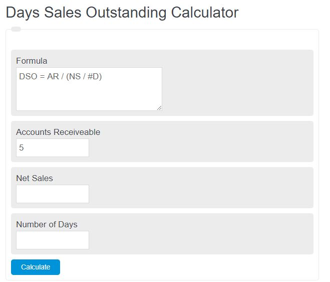 days sales outstanding calculator