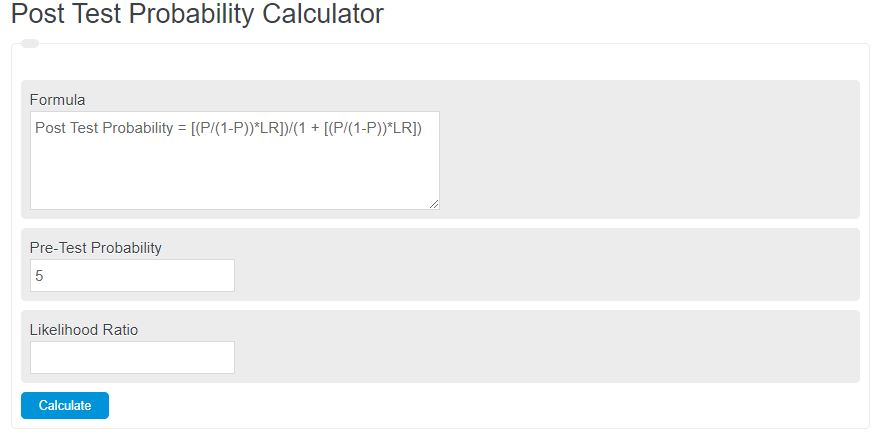 post test probability calculator