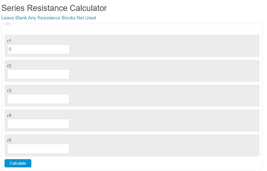 series resistance calculator