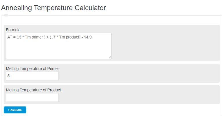 annealing temperature calculator
