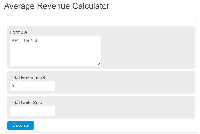 average revenue calculator