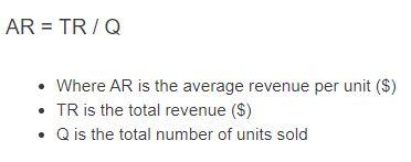 average revenue formula