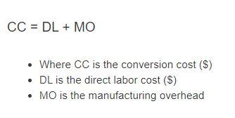 conversion cost formula