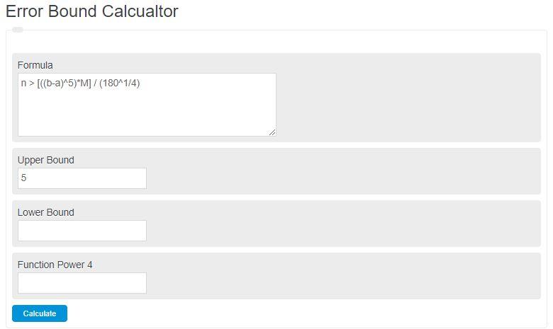 error bound calculator